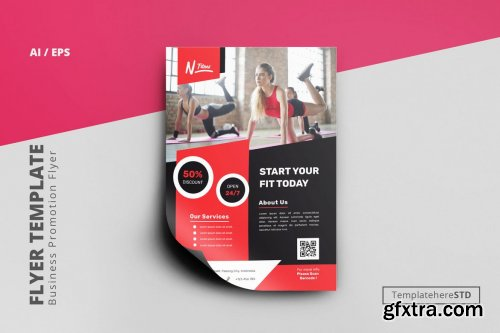Fitness Business Flyer Template