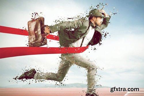 CreativeMarket - Shatter Photoshop Action 4077209