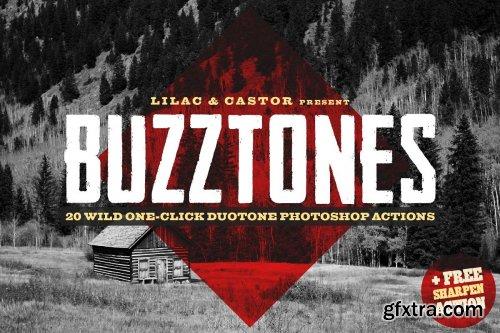 CreativeMarket - Buzztones - Photoshop Duotone Action 4097023
