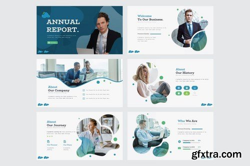 ANNUAL REPORT - Powerpoint Google Slides and Keynote Templates