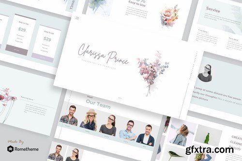 Clarissa Prince - Powerpoint Google Slides and Keynote Templates