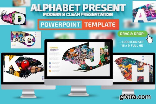 Alphabet Powerpoint and Keynote Templates