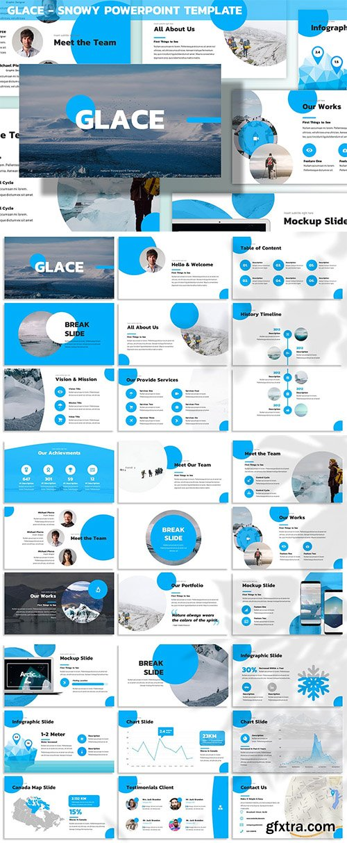 Glace - Snowy Powerpoint Template