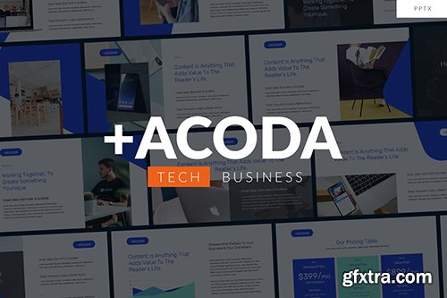 ACODA - Tech Business Powerpoint and Google Slides Template