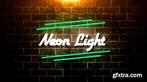 Neon Light Pack After Effects Template