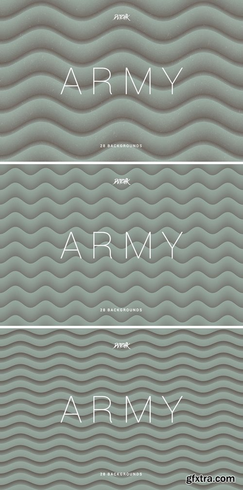 Army Green | Soft Abstract Wavy Backgrounds