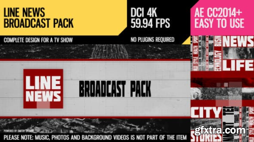 VideoHive Line News (Broadcast Pack) 24160313