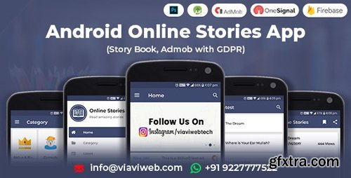 CodeCanyon - Android Online Stories App (Story Book, Admob with GDPR) (Update: 13 September 19) - 7683480