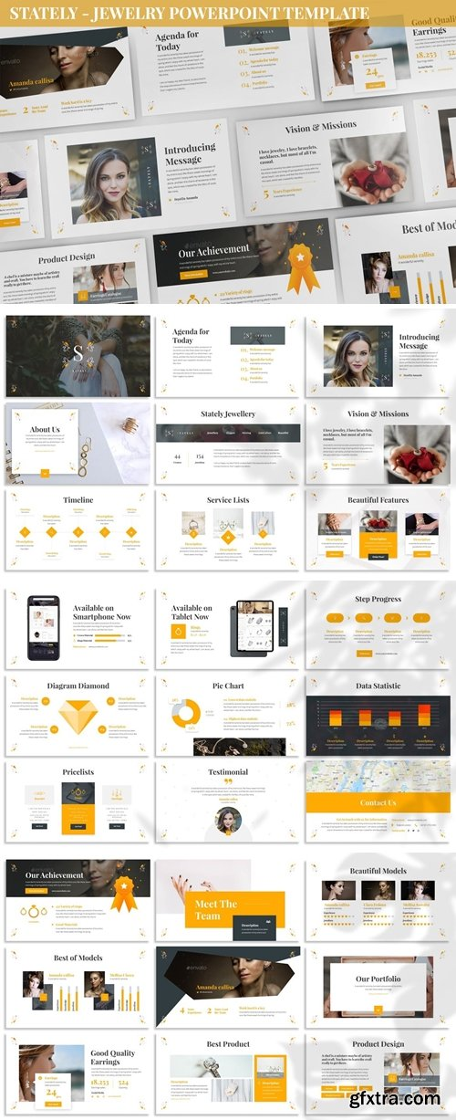 Stately - Jewelry Powerpoint Template