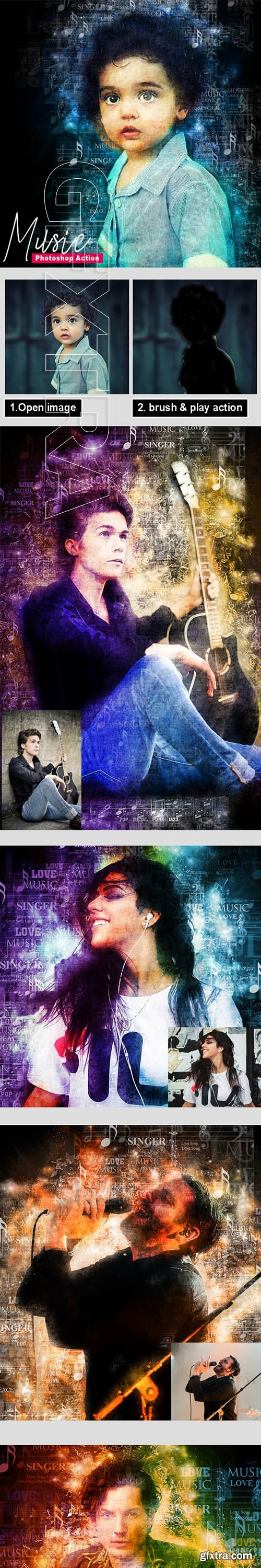 GraphicRiver - Music - Photoshop Action 24578054