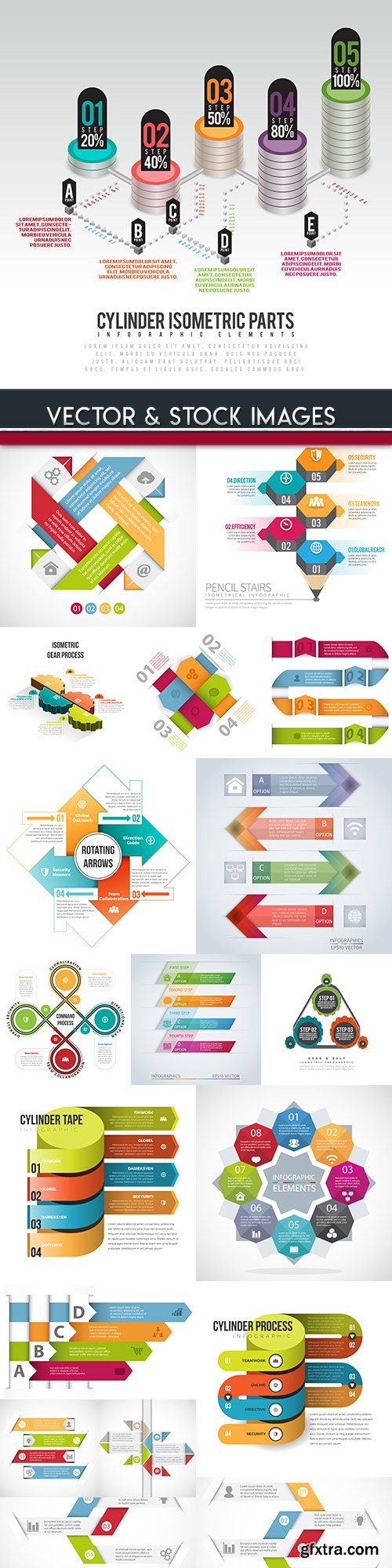 Business infographics options elements collection 99
