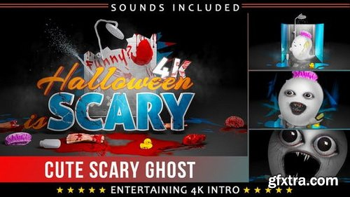 Videohive - Funny Scary Ghost Logo Intro - 22804560