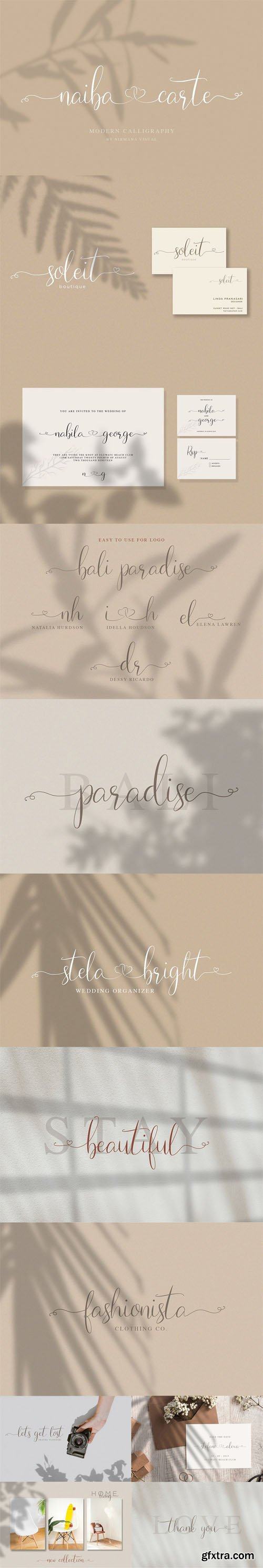 Naibacarte Modern Calligraphy Font