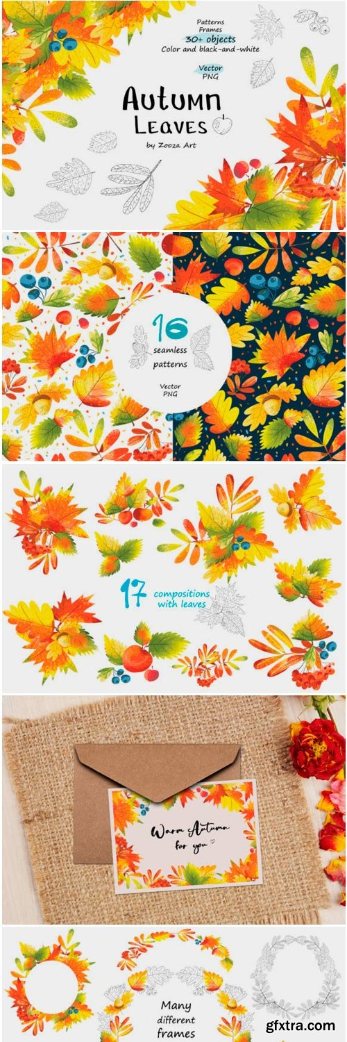 Autumn Leaves Objects Patterns Frames 1836107