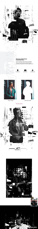 GraphicRiver - Photocopy Glitch Poster Photoshop Action 24748010