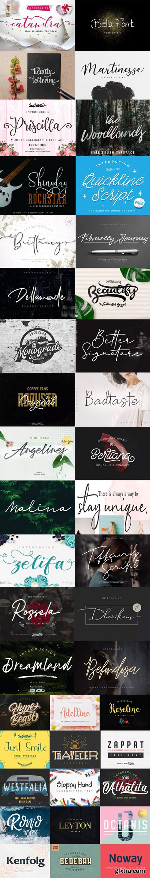 43 Beautiful Fonts Collection for Designers