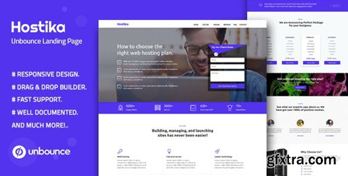 ThemeForest - Hostika v1.0 - Unbounce Landing Page Template - 24728375