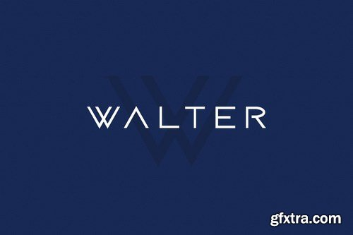 WALTER - Modern Techno Sci-Fi Typeface