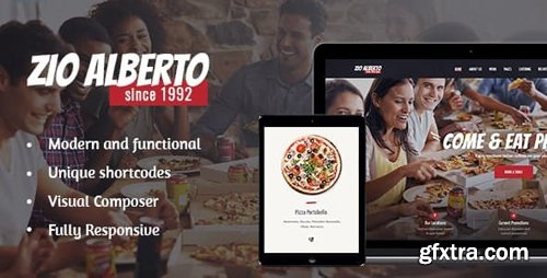 ThemeForest - Zio Alberto v1.2.2 - Pizza Restaurant, Cafe & Bistro WordPress Theme - 20263195
