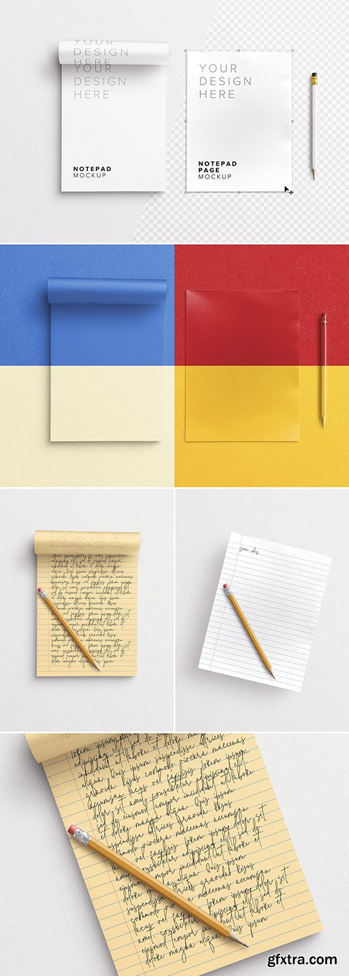 Notepad with Pencil Mockup 292406196