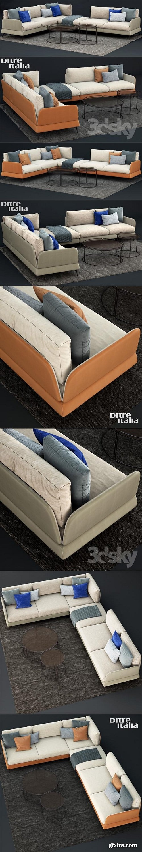 Ditre Italia JASPER Canape 3d model