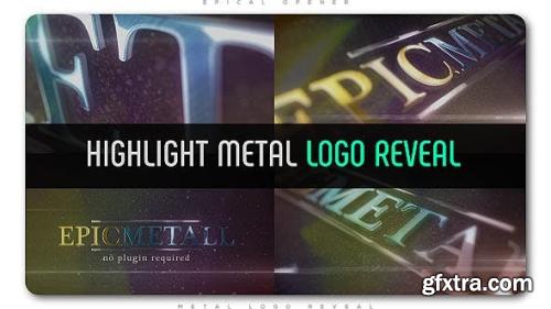 VideoHive Highlight Metal Logo Reveal 20027337