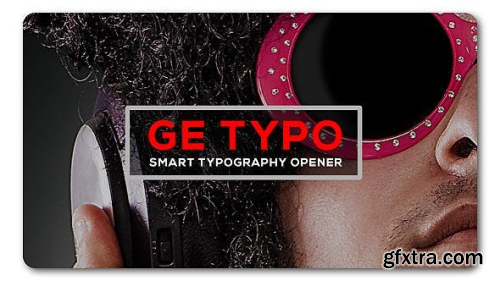 VideoHive The Typo Smart Opener 19539923