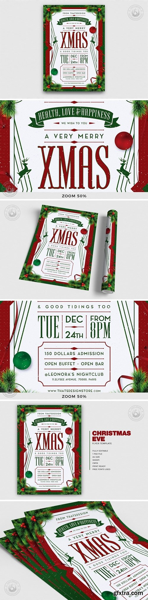 Christmas Eve Flyer Template V8