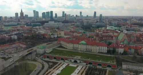 Warsaw Downtown Skyline City Time Lapse with Clouds Dynamic, Poland - 5EPU873