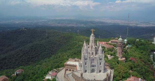 Panorama of Barcelona From Mount Tibidabo. Catalonia, Spain - T67249Z