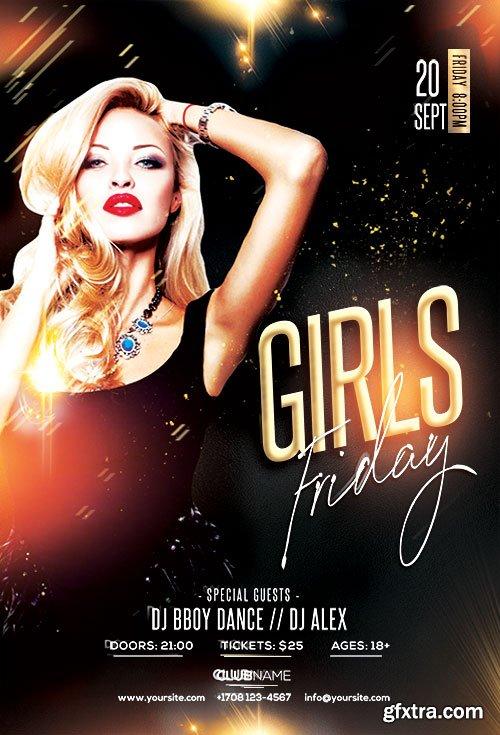 Friday Girls PSD Flyer Template