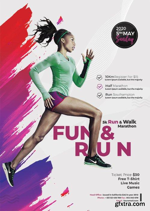 Marathon Event PSD Flyer Template