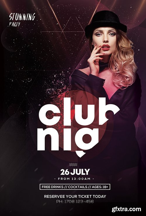 Main_Files Club & Party PSD Flyer Template