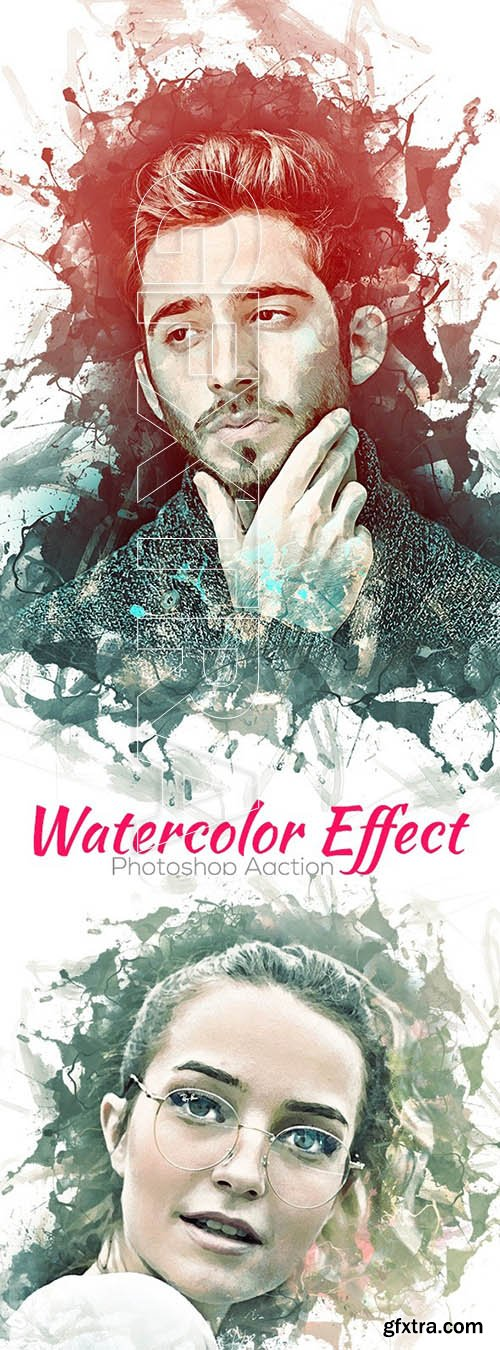 GraphicRiver - Watercolor Effect Photoshop Action 24740269