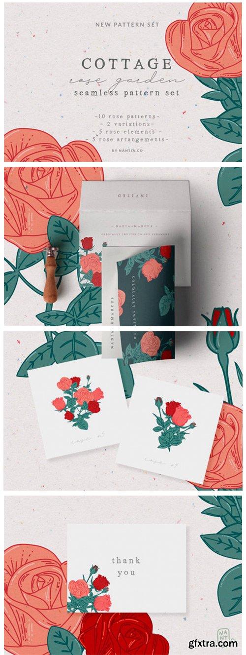 Cottage Rose Garden Pattern Set 1790581