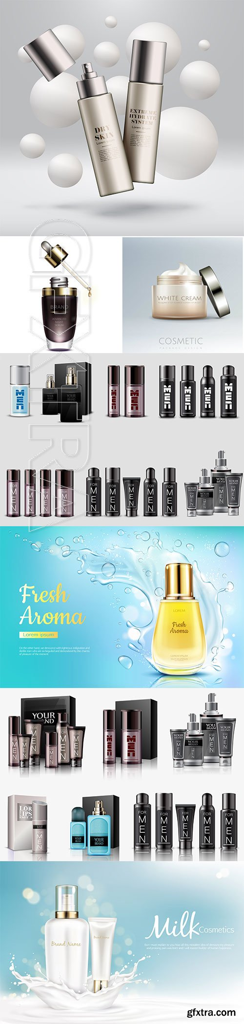 Vector posters advertising cosmetics # 2