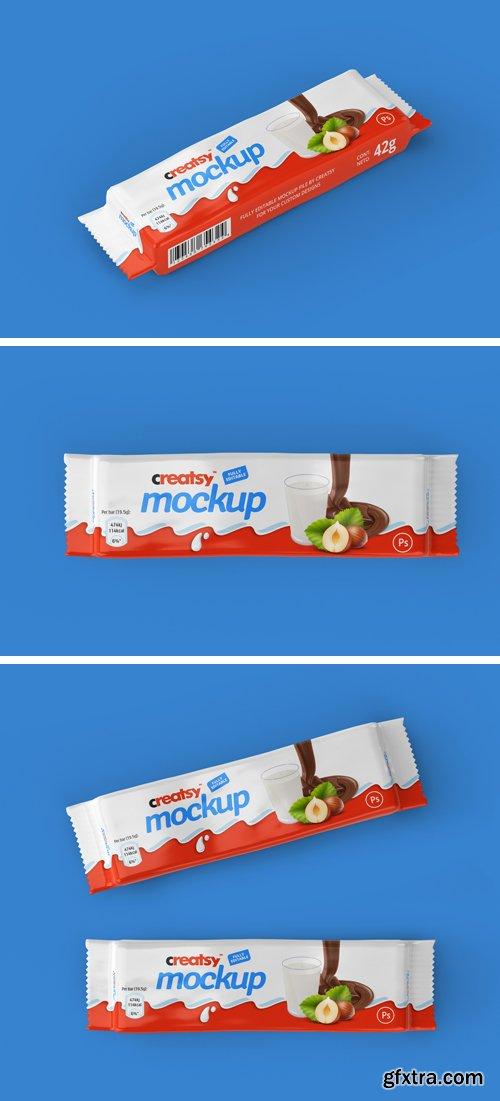 Chocolate Bar Package Mockup