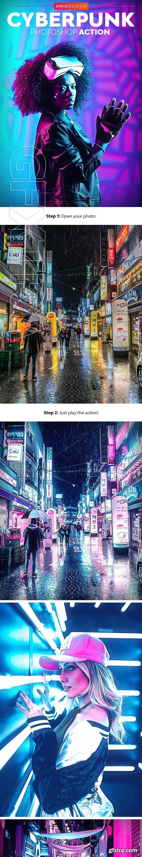 GraphicRiver - CyberPunk Photoshop Action 24648553