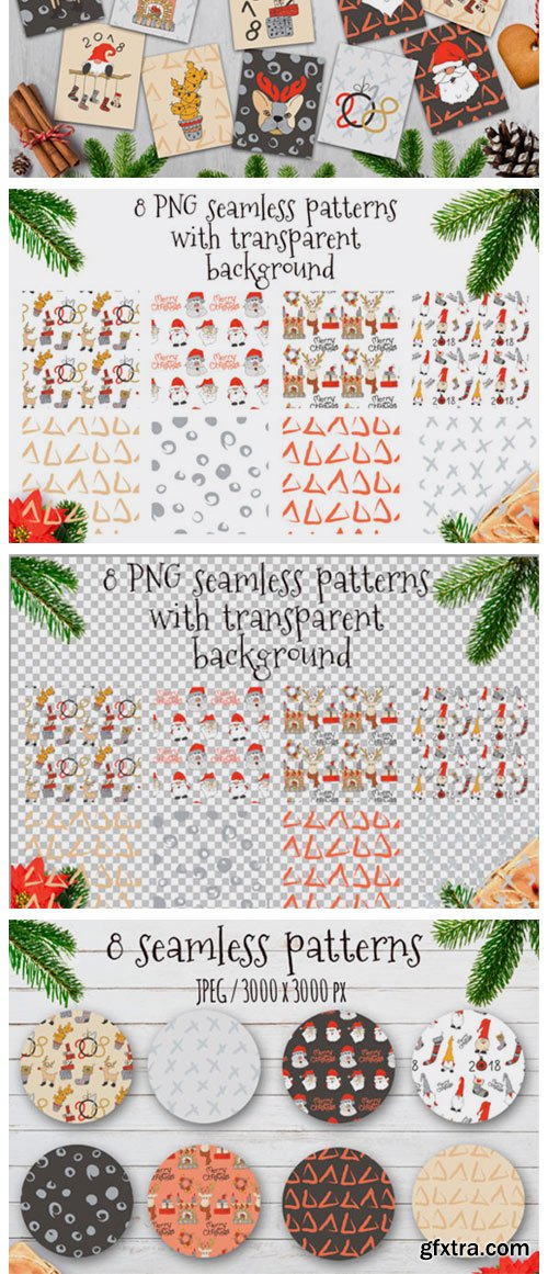 Merry Christmas Hand Drawn Decorations 1786721