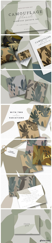 Camouflage Floral Pattern Set 1790501
