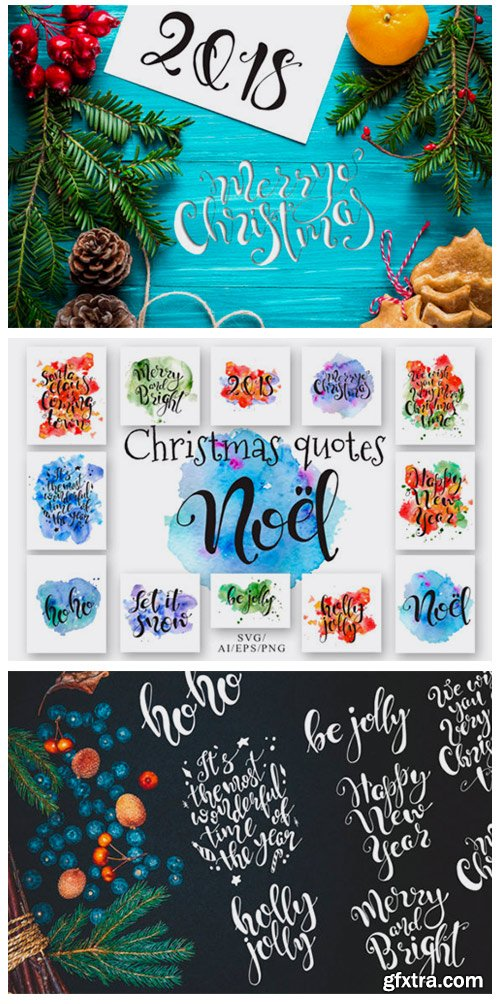 Christmas Quotes Hand Deawing Lettering 1786726