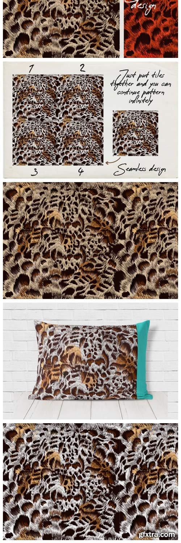 Seamless Vector Leopard Pattern Design 1786676