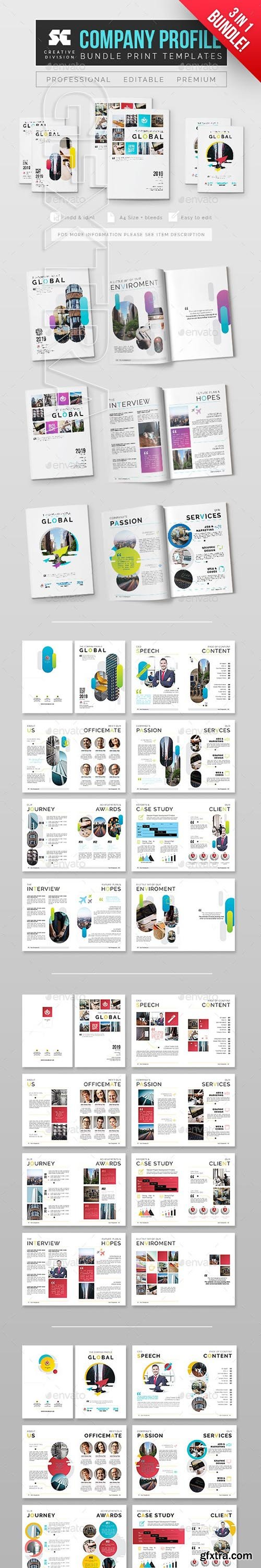 GraphicRiver - Company Profile Bundle 3 In 1 24776320