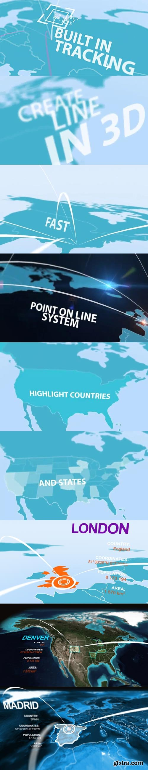 Videohive - Infographics 3D Map Kit - 4835077