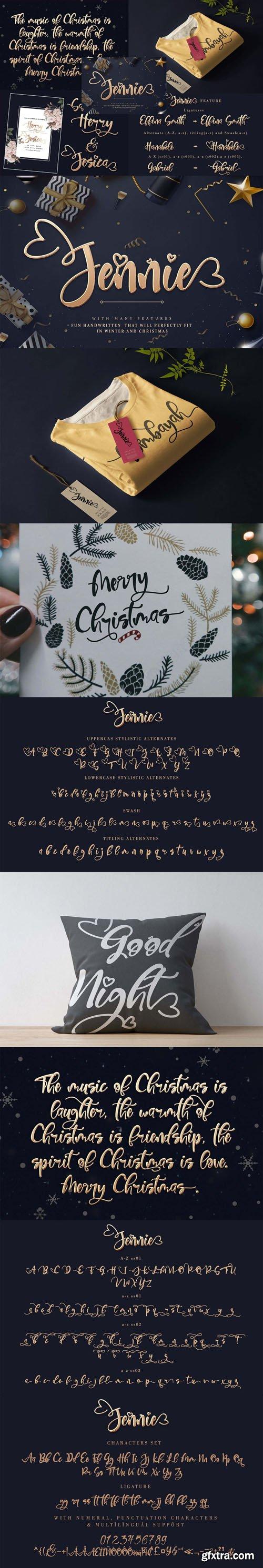 Jennie Handwritten Font