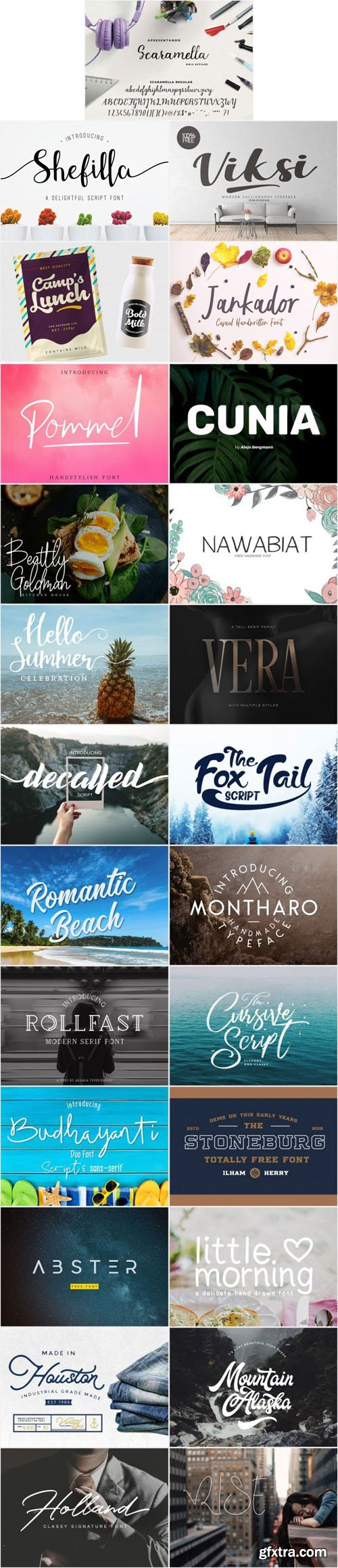24 Best Stylish Fonts Collection