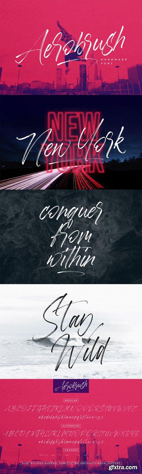 Aerobrush Handmade Font
