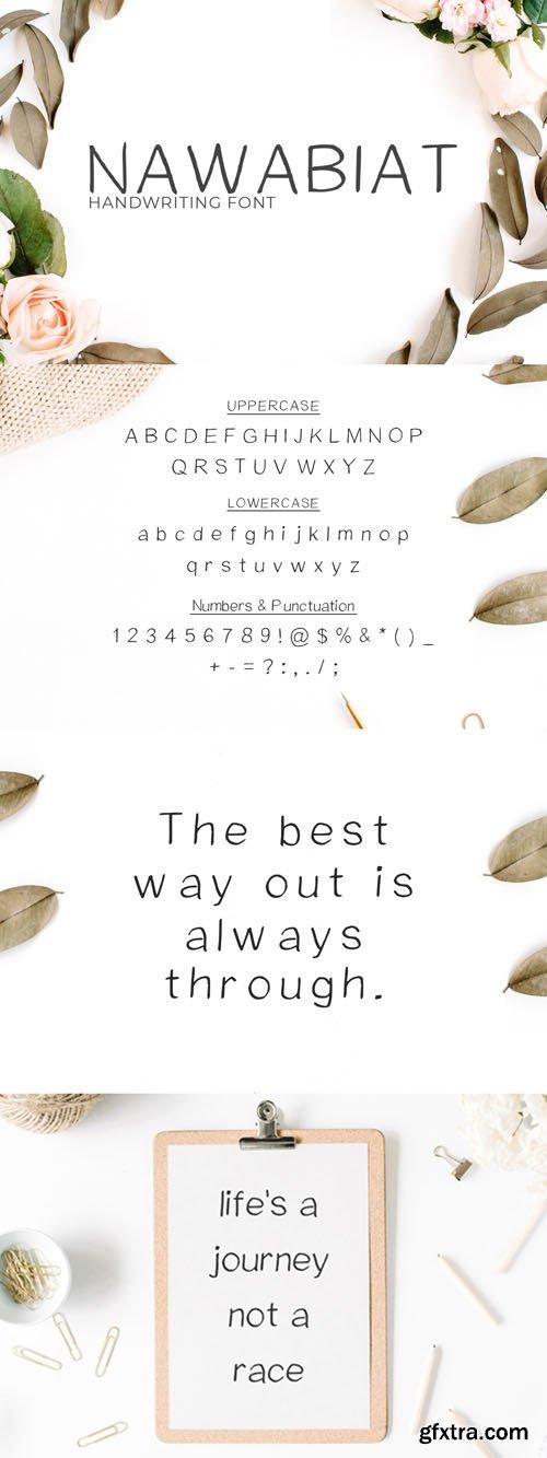 Nawabiat Handwriting Font