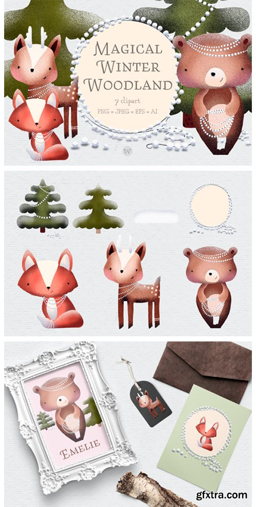 Scandinavian Woodland Animal Clipart 1844916