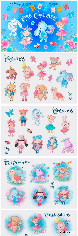 Cute Characters – Vector Clip Art 1845144